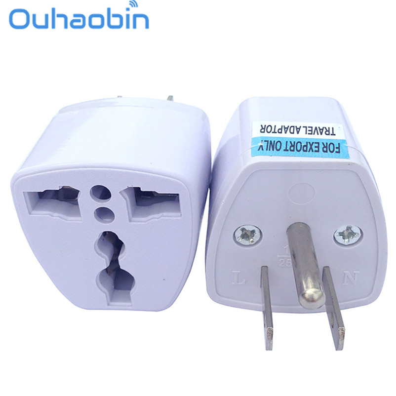 Ouhaobin Universal EU UK AU to US USA Canada AC Travel Power Plug Adapter Converter Gift Oct 27 Dropship