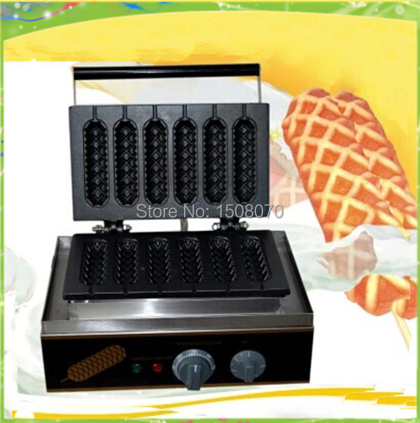 Free shipping 220v hot sale 220v commerical hot dog cake machine lolly waffle maker corn dog machine