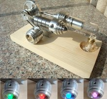 Hot Air Stirling Engine Single Flywheel Education Toy Electricity Power Generator M14 03 s