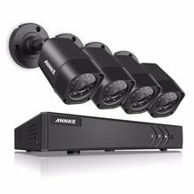 ANNKE 5 в 1 4CH 1080N TVI H.264 + 720P HDMI AHD CCTV DVR 4PCS 1.0 MP ИК на открытом воздухе видеонаблюдения безопасности