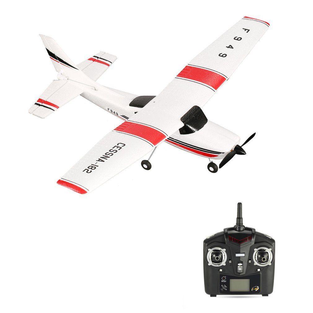 WLtoys F949 2.4G 3Ch RC Avion à Voilure Fixe Avion jouet d'extérieur Drone Volant Modèle Rtf Cessna Planeur Avion Flyer émetteur