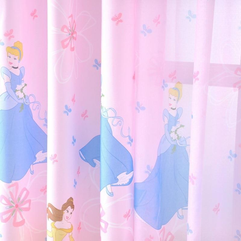 zen doek roze cartoon meisjes disney prinses kinderkamer gordijnen goedkope zero shear groothandel in zen doek roze cartoon meisjes disney prinses