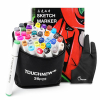 TOUCHNEW 36 48 Color Dual Head Art Marker Set Alcohol Sketch Markers Pen A4 SketchBook Two
