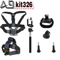 GPK02 Sport Camcorder Accessories Budle Kit For Gopro Hero 5 2 4 3 SJ4000 SJ5000 SJ5000X