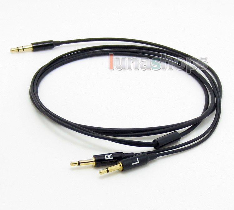 3.5mm To 2.5mm Replacement 5N OFC Cable Soft Light weight Cord for B&W Bowers & Wilkins P3 headphone LN004652