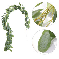 Artificial Flowers Green Hanging Vine Plant Leaves Garland For Party Home Garden Wall Decoration