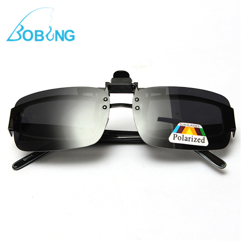 Bobing Polarized Clip On Fishing Sunglasses Fishing Eyewear S M L Fish Sports Glasses Lens eleganzza серые перчатки с отделкой