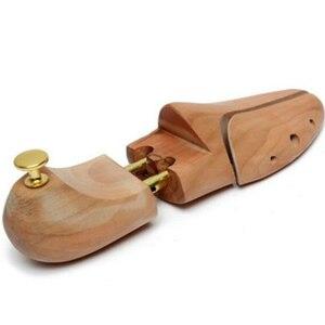 Image 3 - Une paire chaussure civière bois chaussures arbre Shaper support bois réglable chaussures plates pompes extenseur arbres taille unisexe chaussure support