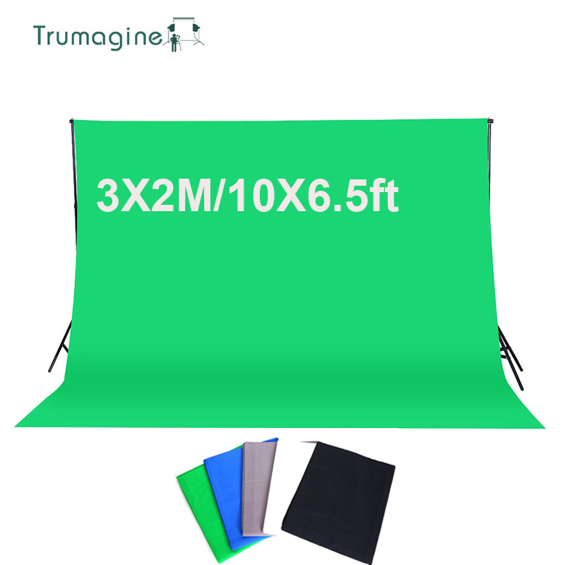 3*2M/10*6.5Ft Photography Background Photo Studio Green Screen Cotton Muslin Chromakey Photographic Backdrop Pros Shooting 10ft 19ft 3 6m photo lighting studio cotton chromakey chromakey black screen muslin background cloth backdrop