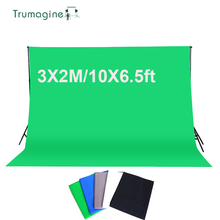 TRUMAGINE 3*2M/10*6.5ft Photography Background Screen Cotton Muslin Chroma Key Photographic Backdrop For Studio Photo Props