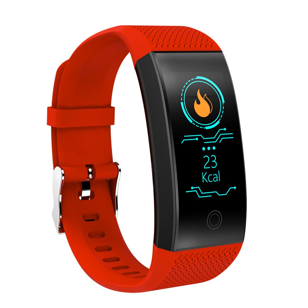 QW18 Smart Bracelet Fitness Tracker Pedometer Bluetooth Heart Rate Blood Pressure Sensor Life Waterproof Smart Watch
