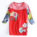 Nova Kids girls dress embroidery flower baby clothes fall baby dress children's clothes fall frocks girl kids wear dresses