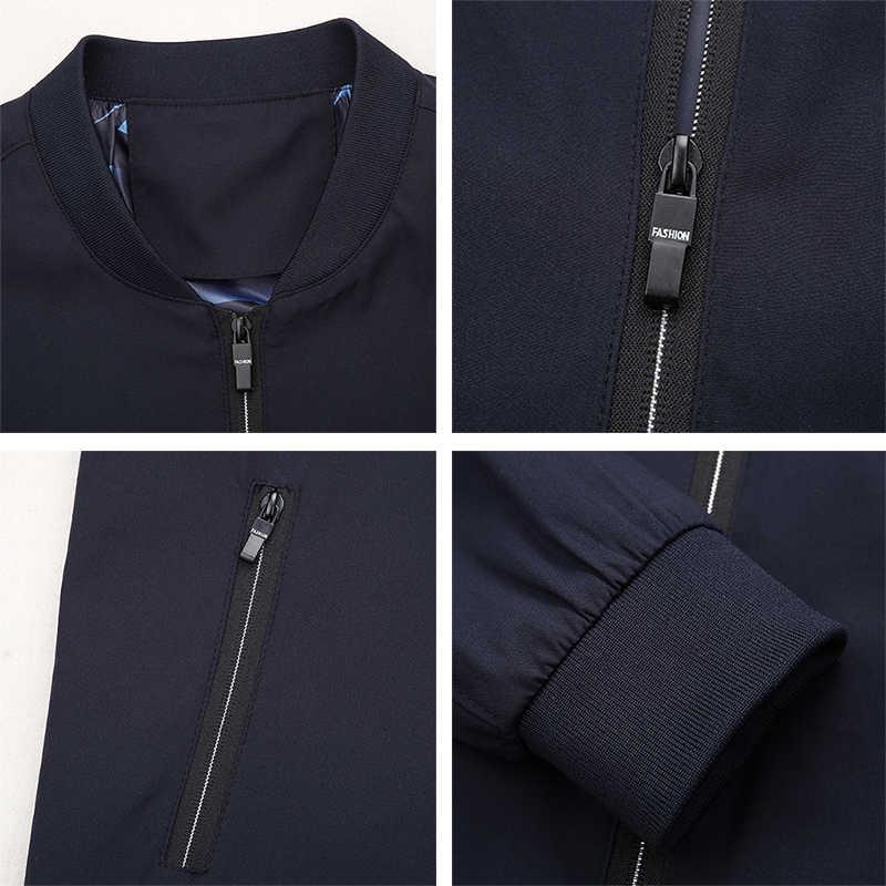 Мужская однотонная куртка с воротником-стойкой на весну-осень Повседневная мешковатая ветровка с длинным рукавом Тренч Верхняя одежда пальто для мужчин 5 цветов бренд