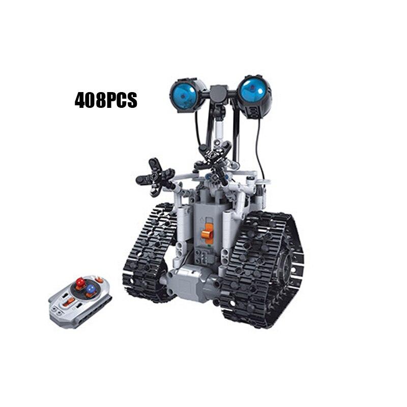 Technic 2.4Ghz rc intelligent suivi robot wall-e bloc de construction avec brique légère radio télécommande jouets collection pour cadeaux