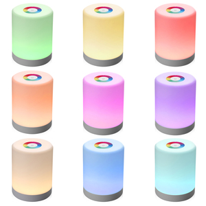 Image 3 - Rechargeable Smart LED Touch Control Night Light Induction Dimmer Intelligent Bedside Portable Lamp Dimmable RGB Color Change