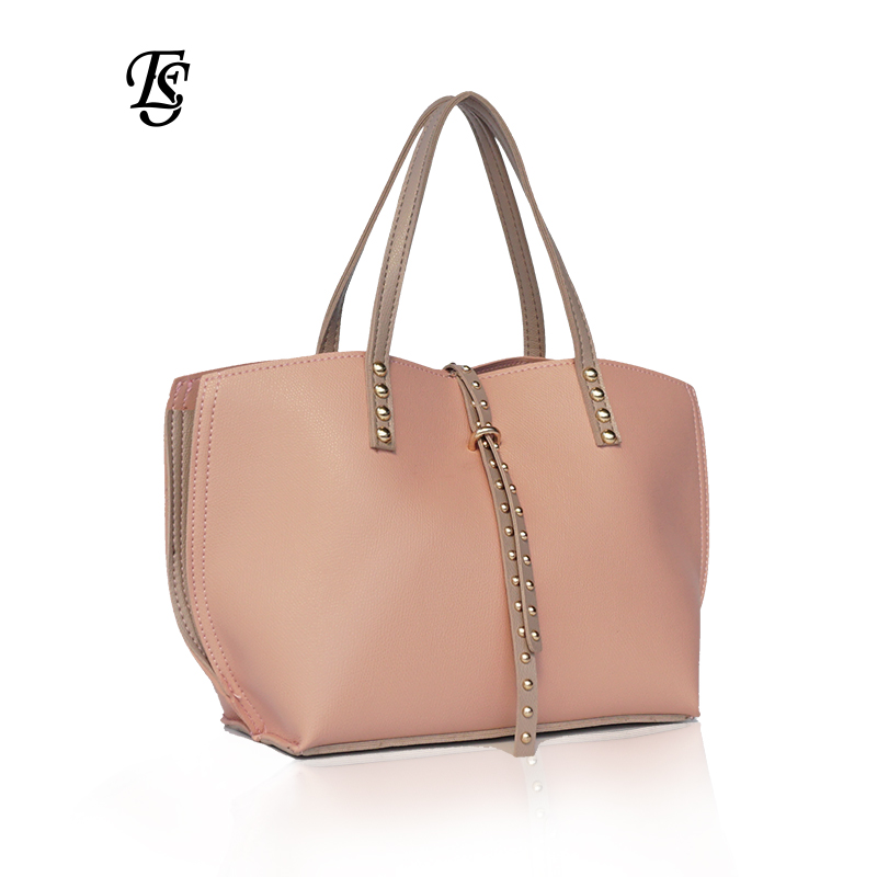 E SHUNFA brand original shoulder bag female handbag solid color wings bag woman PU casual fashion