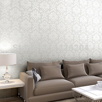 Great Wall Beige White Pink Damask Damascus Wallpaper Roll Modern European PVC Wallpaper Papel De Parede