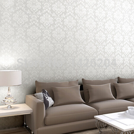 Great Wall Beige White Pink Damask Damascus Wallpaper