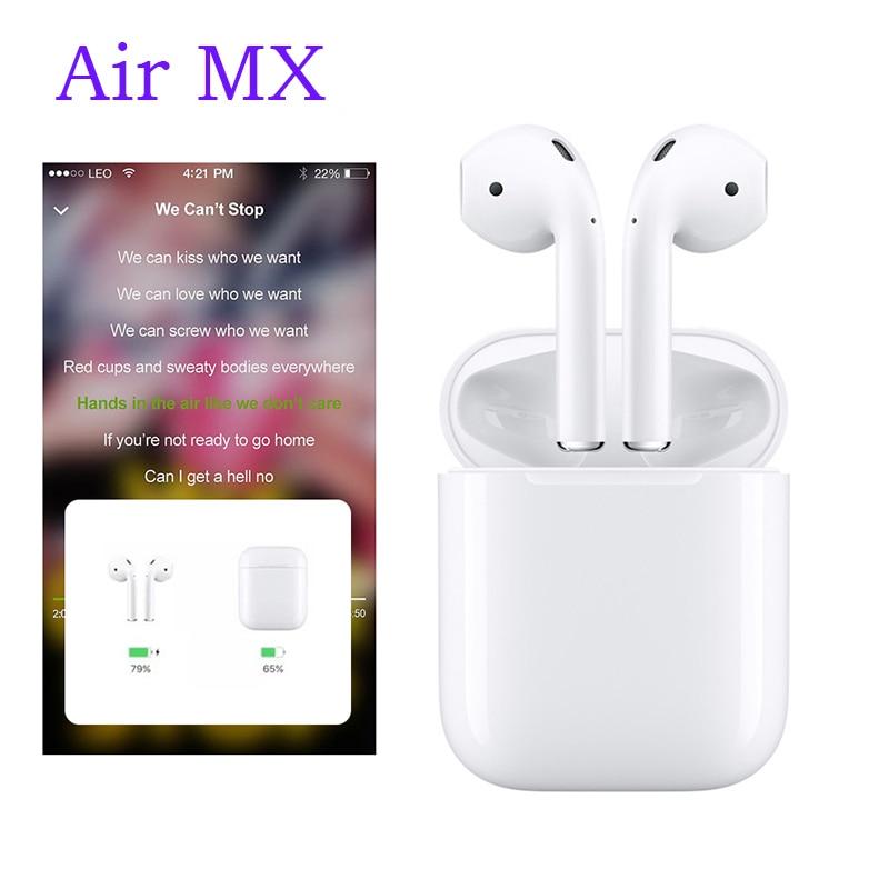 2019 nouveau Original Air MX TWS 1:1 air mini Bluetooth 5.0 sans fil 3D grosse oreille téléphones PK i20 i21 tws XY pods LK TE9 W1 puce