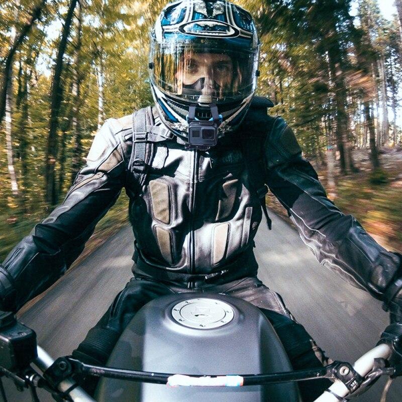 TELESIN Moto Casque Camera Action Mont Courroie Rcip Avant Montage pour GoPro Hero 6/5/4/3 session pour Hero7 Sport Accessoires