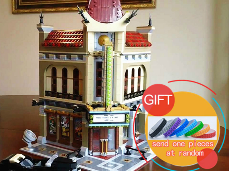 15006 2354pcs Palace Cinema City Street Model Set Building Blocks Compatible with 10232 For Children toys lepin new lepin 16009 1151pcs queen anne s revenge pirates of the caribbean building blocks set compatible legoed with 4195 children