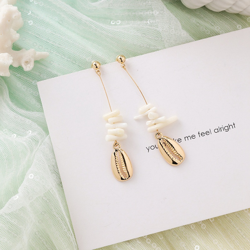 MENGJIQIAO New Korea Japan Elegant Shell Starfish Drop Earrings For Women Sweety Simulated Pearl Pendientes Girl Party Jewelry 24