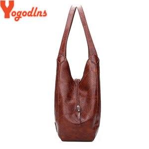 Image 2 - Yogodlns Vintage Vrouwen Handtas Ontwerpers Luxe Handtassen Vrouwen Schoudertassen Vrouwelijke Top Handvat Tassen Mode Merk Handtassen