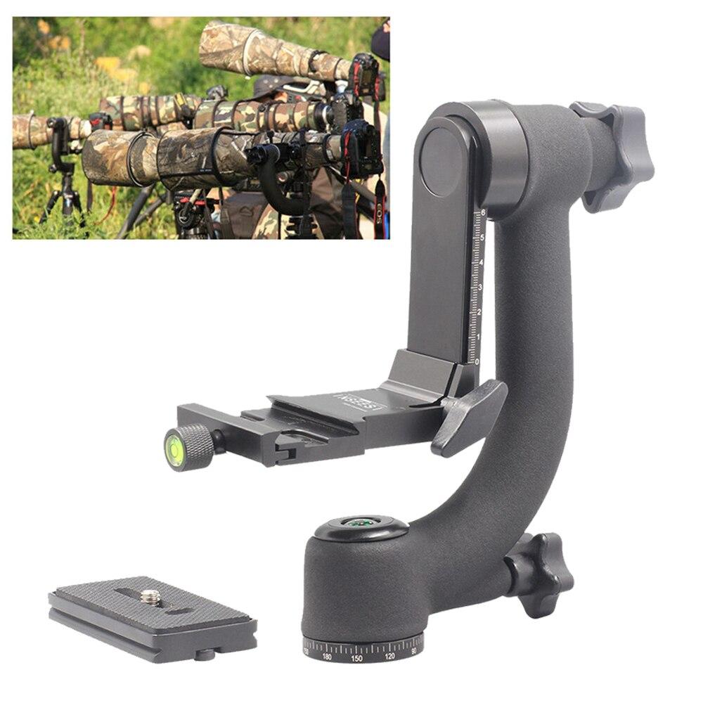 INSEESI professionnel caméra téléobjectif panoramique 360 degrés cardan trépied tête 1/4 vis pour QZSD Q999s Q666 Zomei trépied