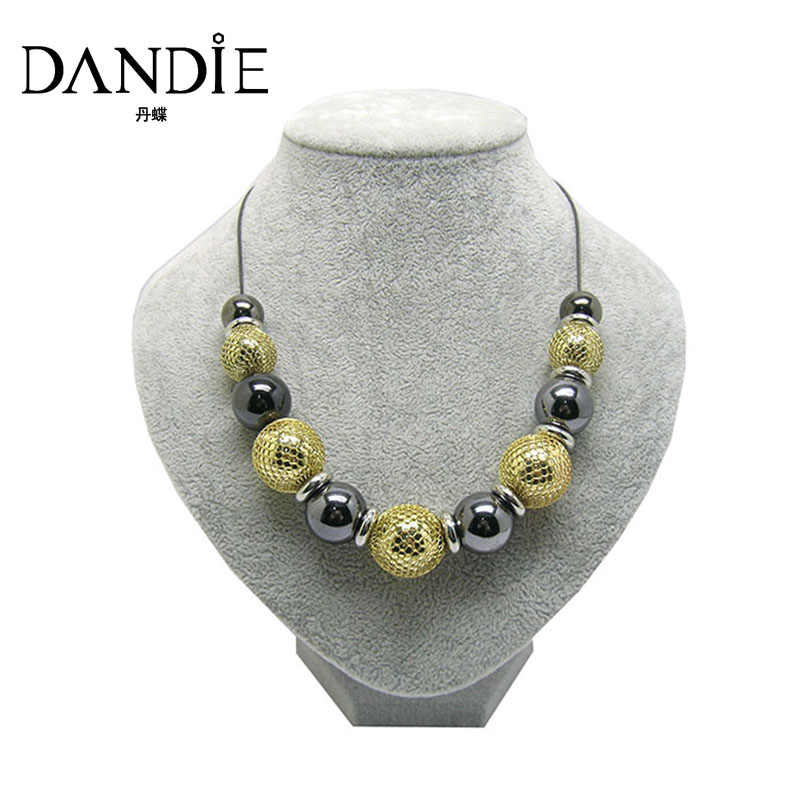 Dandie Hot Sale Design Necklace With Gold And Black CCB Bead For Women,Daily Wear Fashion Jewelry