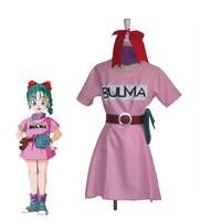 Anime Dragon Ball Bulma Cosplay Costume Halloween Carnival Uniforms Red Short Sleeve Women Fancy Dresses Custom Made