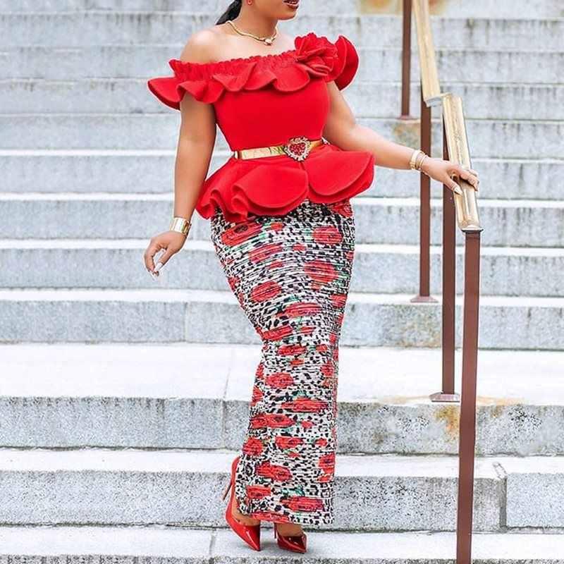Летний сексуальный клуб красный элегантный плюс размер вечерние женские длинные платья облегающее платье с открытыми плечами Falbala сплит женские модные макси платья