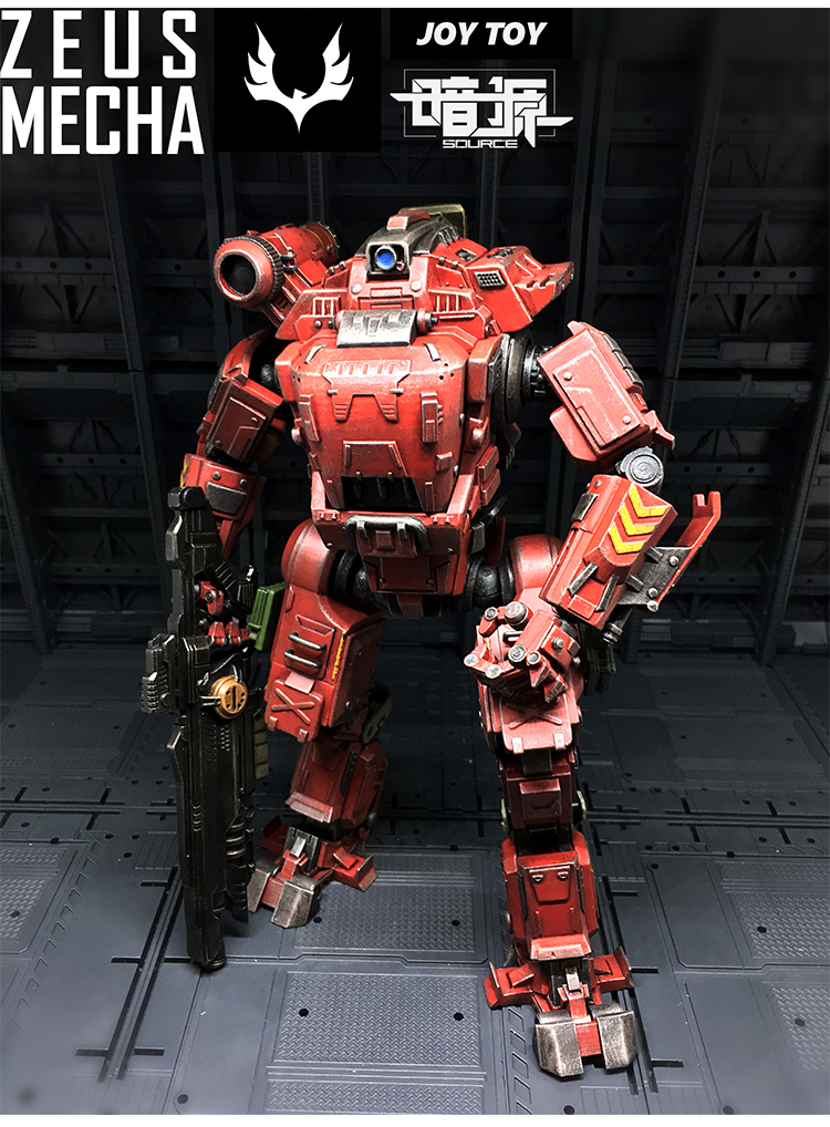 Free Shipping JOY TOY 1:27 Action Robot UNF ZEUS MECHA Soldiers ,The  2rd generation model toys collection gift 5pcs lots 2017 film extraordinary corps mecha five beast hand collection model toy
