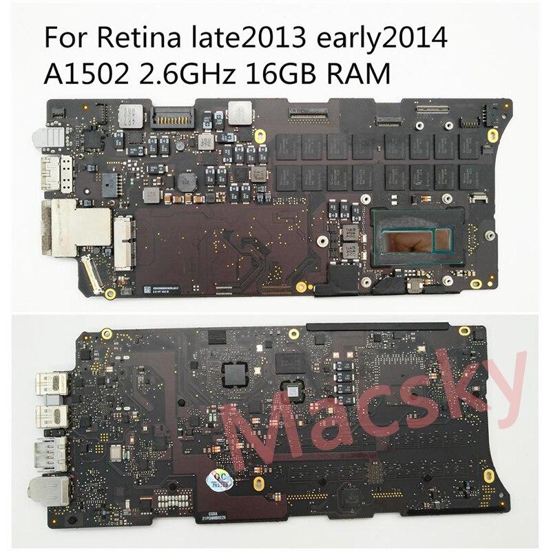 Carte mère Orignal i5 2.6 GHz 8 GB i7 2.8 GHz 16 GB pour MacBook Pro Retina 13