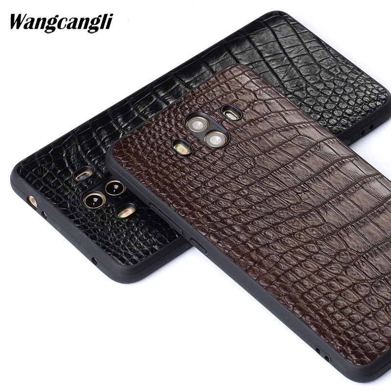 Fashion crocodile belly skin phone case for Huawei mate10 luxury Genuine leather phone case all-inclusive phone protection caseFashion crocodile belly skin phone case for Huawei mate10 luxury Genuine leather phone case all-inclusive phone protection case
