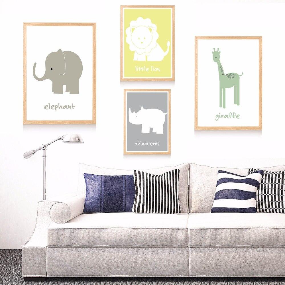 Safari themen kindergarten leinwand kunstdruck malerei poster mauerbilder für kinderzimmer home dekorative schlafzimmer decor kein rahmen