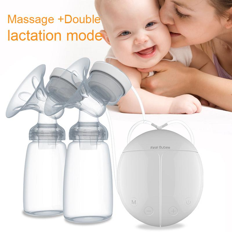 Double Side Electric Breast Pump Automatic Massage For Postpartum Feeding