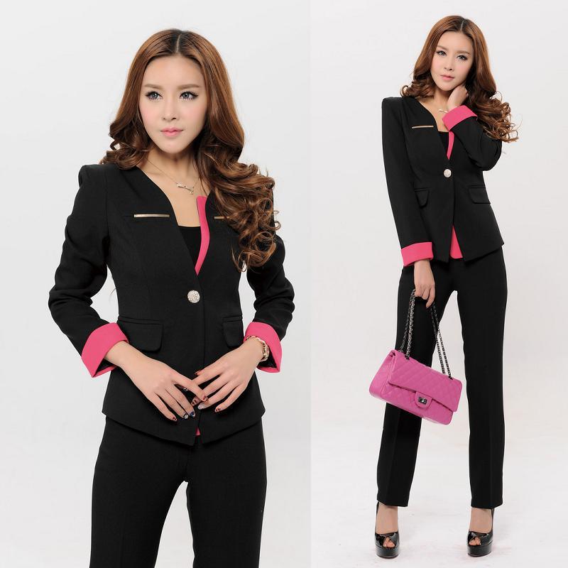 Autumn Winter Female Blazer Women Suits with Pant and Jacket Sets Elegant Ladies Office Uniform Style Pantsuits