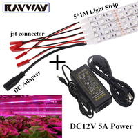 Hot Selling 5 1M SMD 5050 LED Grow Light Strip For Plants Flower Vegetable Growth Lamp