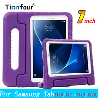 For Samsung Galaxy Tab 3 Lite Case T110 T111 T116 Shockproof EVA Foam Protective Cover For Samsung Tab E 7.0 T113 Kids Stand