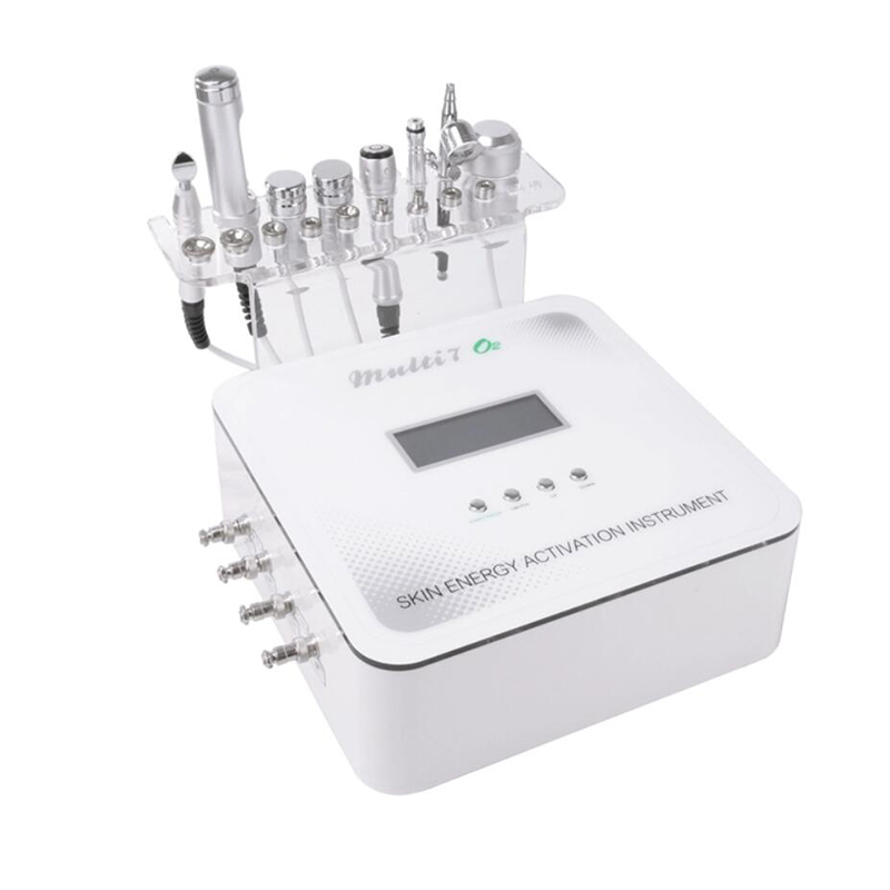 Drop shipping 7 in 1 diamond microdermabrasion mesotherapy electroporation beauty devicemicrocurrent face lift machine