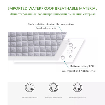 160X200CM Brushed Fabric Quilted Waterproof Mattress  1