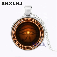 лучшая цена XKXLHJ Silver The Eye of Horus necklace Runes of magic necklace evil eye jewelry