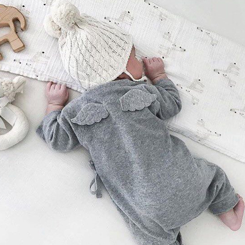 Baby Boy Girls Rompers Autumn Long Sleeve Angel Baby Clothes Wings Rompers Newborn Kids Baby Boy Girls Outfits Onesie Costume