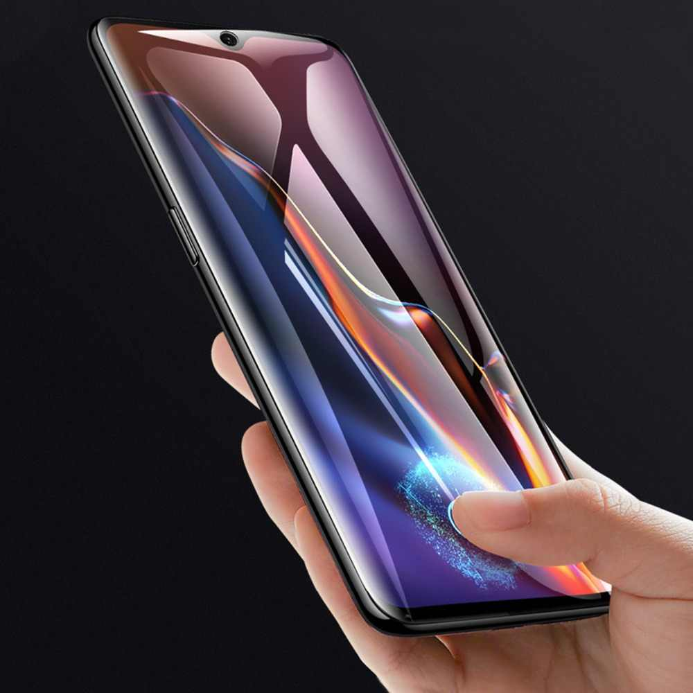 No Retail Package Durable JINGZ 50PCS Non-Full Matte Frosted Tempered Glass Film for OnePlus 7