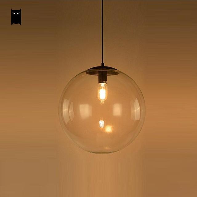 nordic simple orb clear glass pendant lighting. 25/30/40cm iron clear glass globe ball pendant light fixture modern simple nordic orb lighting o