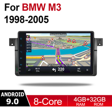 2 din Android 9.0 Octa Core 4GB RAM Car DVD for BMW M3 1998~2006 GPS Radio BT Navi MAP Multimedia player system WIFI HD Screen цены онлайн