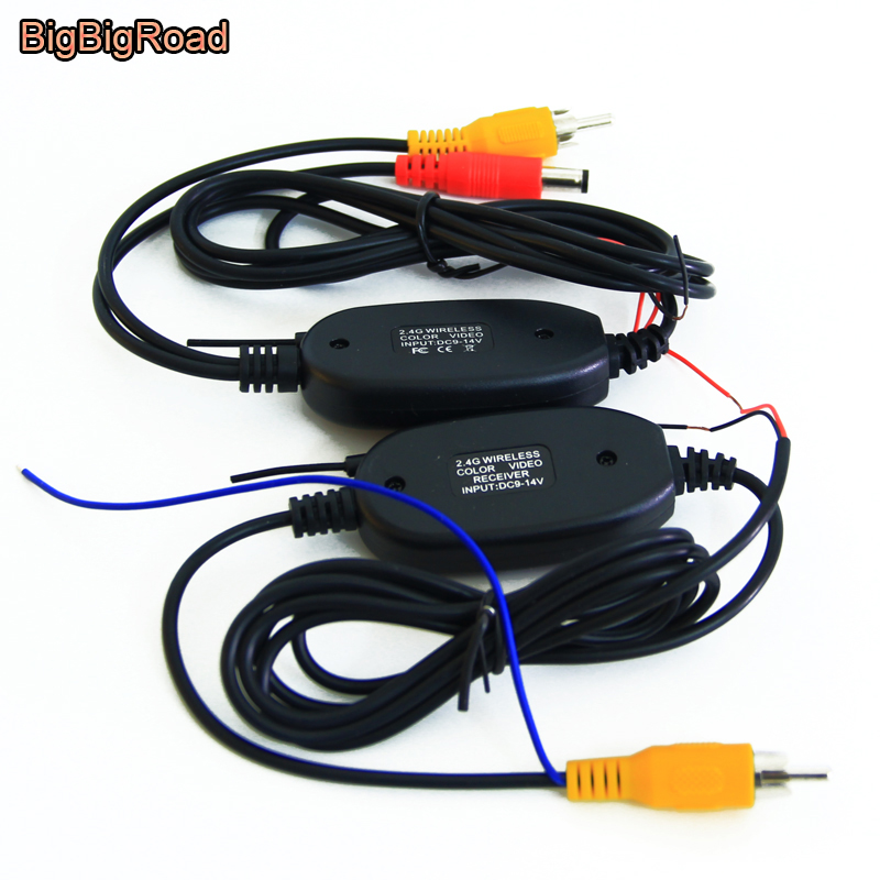 Reverse Trigger Wire For Backup Camera: BigBigRoad 2.4G Wireless RCA Video FM Transmitter Receiver