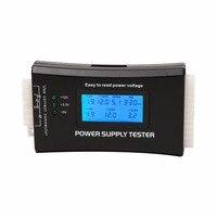 Verifique a fonte de alimentação rápida digital lcd power bank tester computador 20/24 pinos tester suporte 4/8/24/atx 20 pinos interface quente