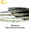 Waterproof  LED Strip 5630 DC12V Flexible LED Light 60 LED/m 5m/lot High Quality 5630 LED Strip.