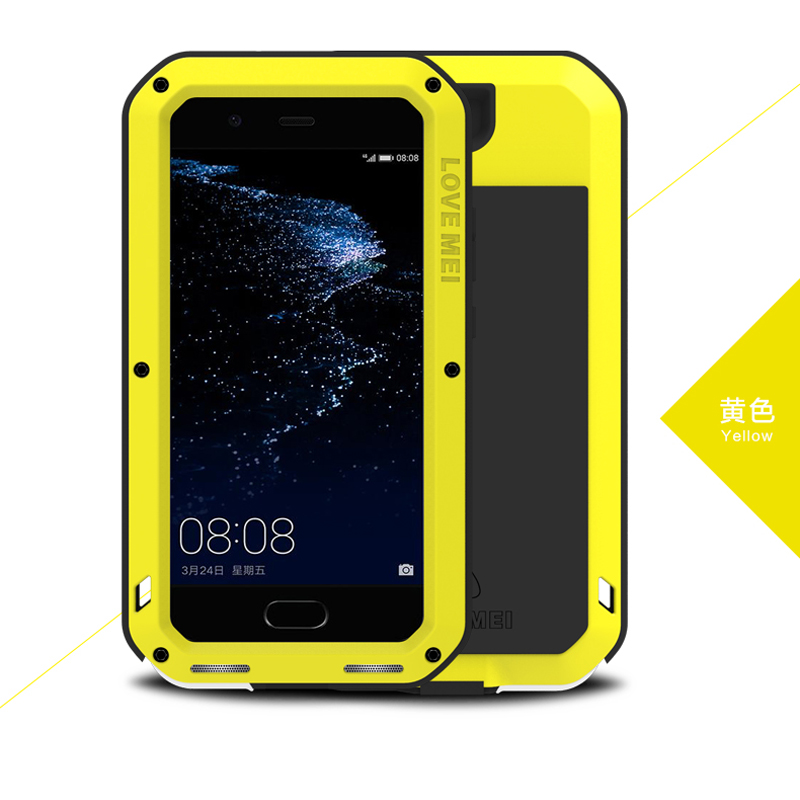 Image 4 - Love Mei Metal Aluminum Phone cover for huawei P10 Phone case 2017 waterproof Shockproof armor rugged Gorilla Glass phone cases-in Fitted Cases from Cellphones & Telecommunications